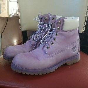Timberland Boots Lavender 8.5